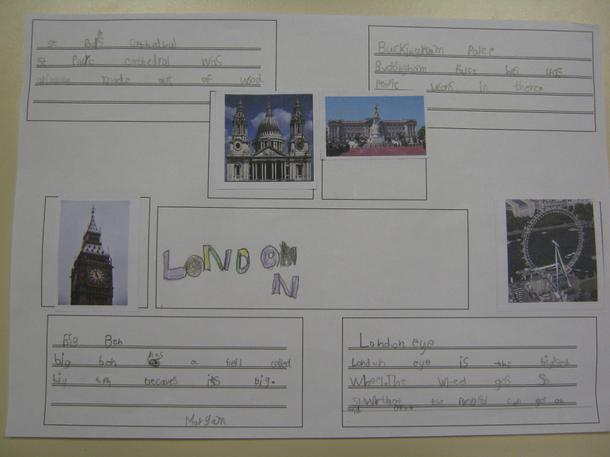 Some children created posters about London