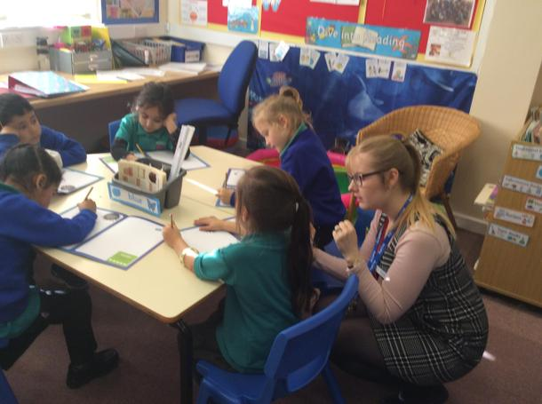 Children explored different ways of making numbers