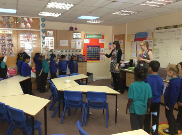Year 2 took part in a Math Workshop about 'Number'
