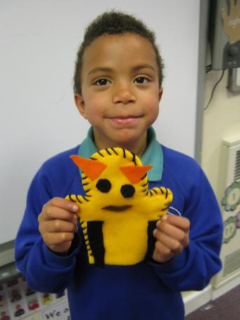 We designed and made puppets