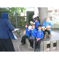 As it was a windy day, we decided to learn outside
