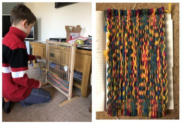 William's woven Maya-style mat!