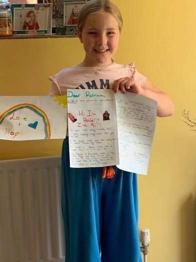 Rosie's rainbow letter!