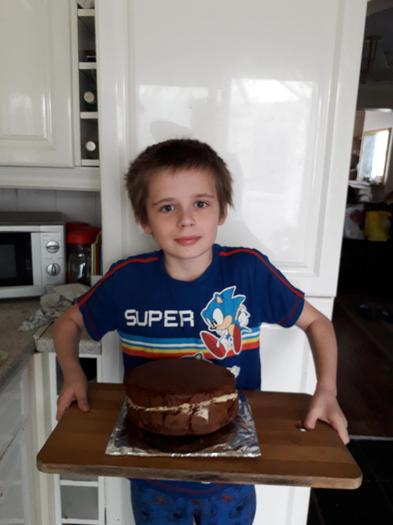 Mark made a delicious-looking chocolate cake