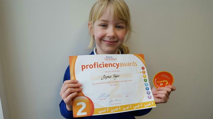 Sophie - British Gymnastics - Level 2!