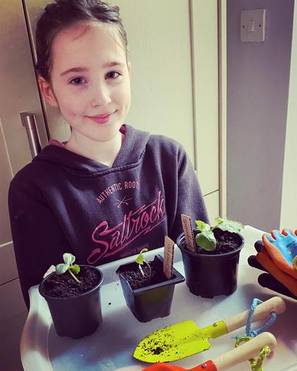 Jemma doing a bit of gardening
