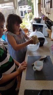 The chef's preparing a feast!