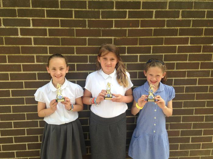 Maddison, Jessica and Eliza - runners up in footy
