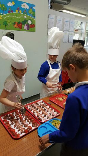Chefs Lucia and Matthew serve their winning meals!