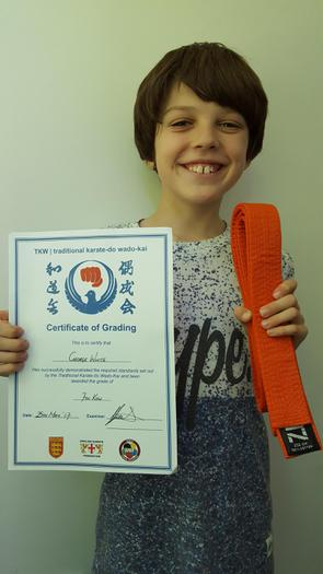 George - Orange belt (7th KYU)!
