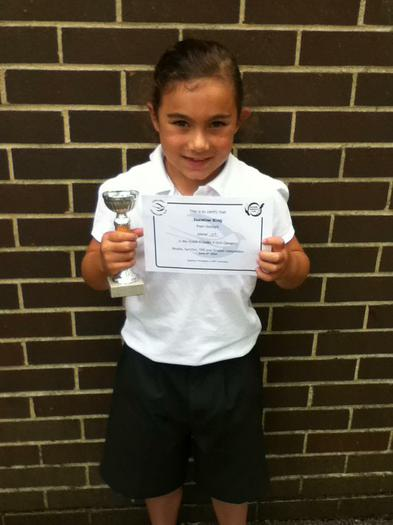 Jasmine King 3BE Trampolining award and trophy !