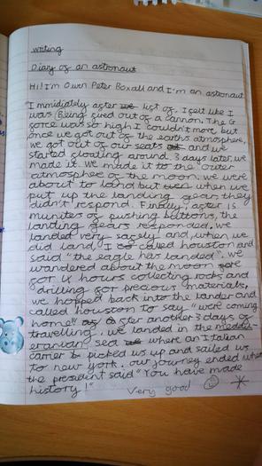 Owen's diary of an astronaut