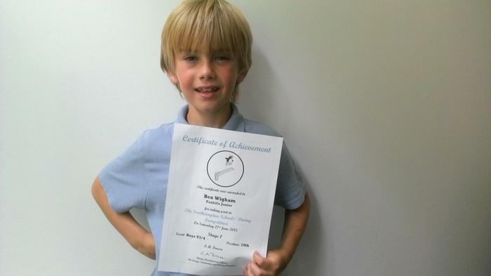 Ben (3NH) - School Diving competition winner!