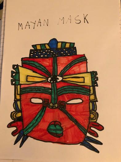 Samson's Maya mask