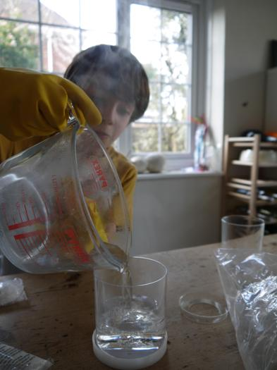Finn's experiment making crystals