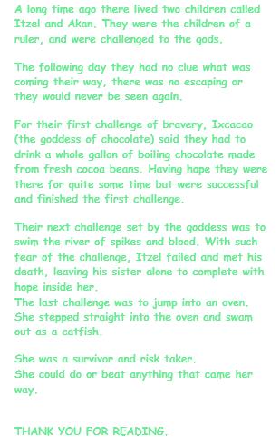 Jess's story based on the Hero Twins
