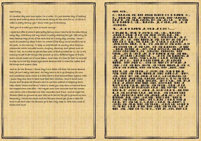 Tarak's diary entry from a noble