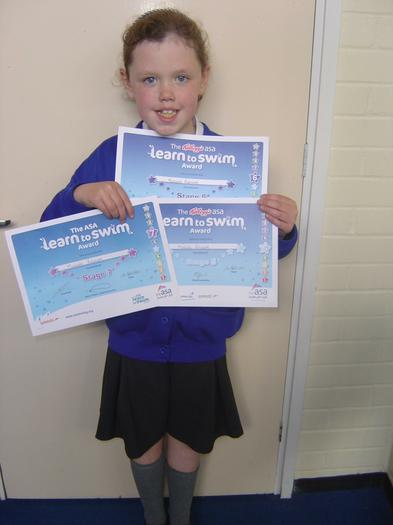 Matilda (3BE) - Stage 5,6,7 Swimming certificate!
