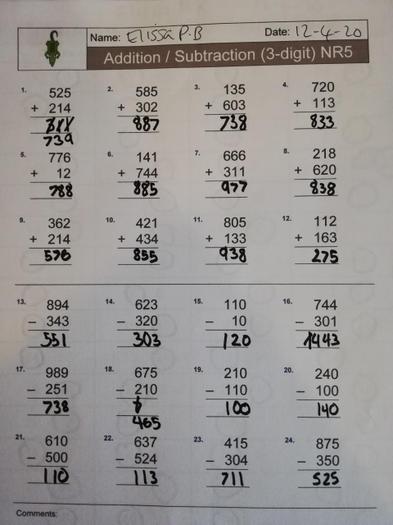 Elissa's maths 3