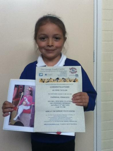 Alysha Taylor (3BE) - Totton Carnival Princess!
