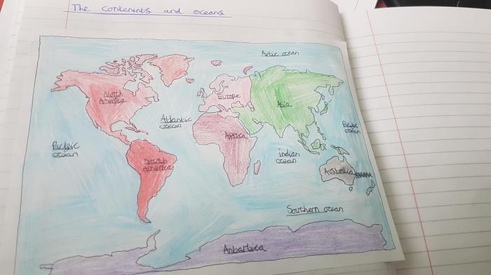 Chloe's map work!