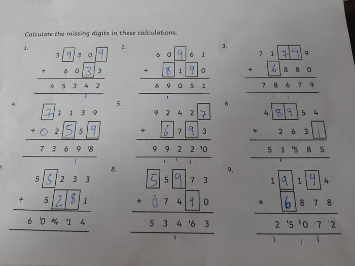 Jeff has been practising lots of maths!