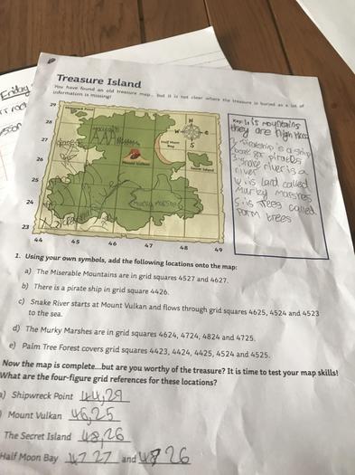 Alaina's treasure island learning