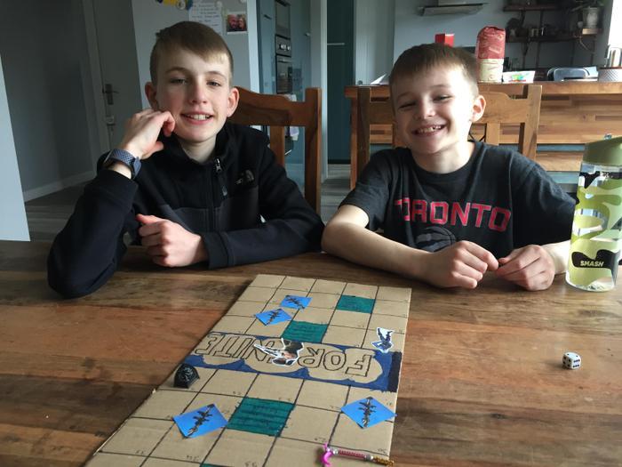 Ewan created a Fortnite Board Game!