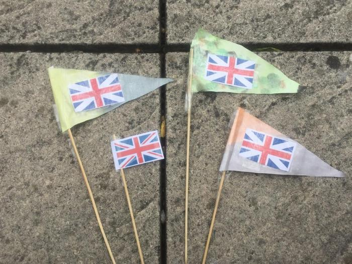 Emilia's VE Day Flags