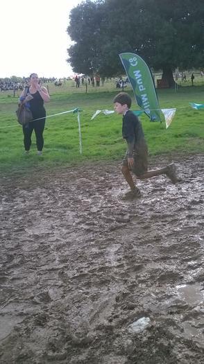 George getting muddy #2