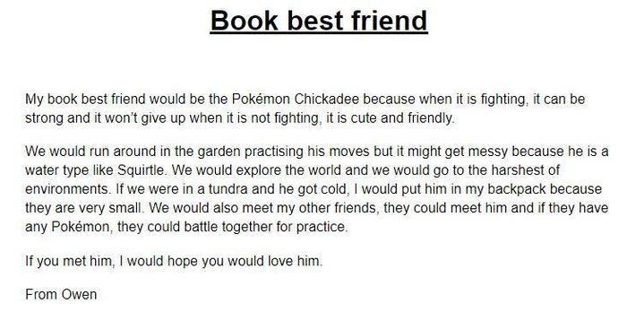 Would you like a Pokemon as a best friend? (Owen)