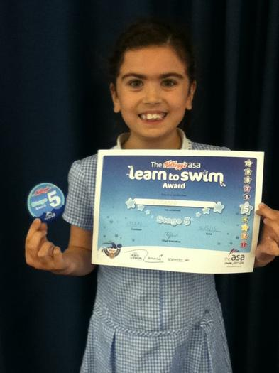Lucy Edwards 3BE Stage 5 Swimming, well done!