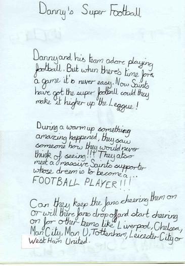 James's blurb for Danny's super football