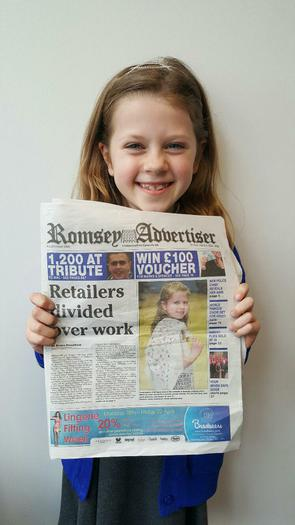 Maddie - Front Page News! (Modelling for Charity)
