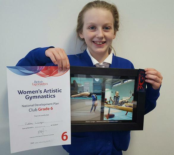 Elektra-Grade 6 artistic gymnastics (distinction)!