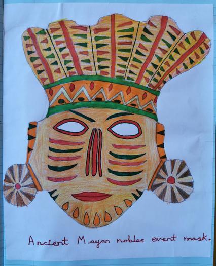 Oliwia designed her own Maya mask