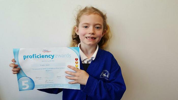 Katie Gymnastics Award: Level 5!