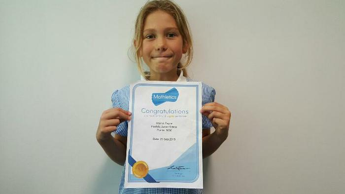 Harriet (4MG) - An amazing1060 pts in Mathletics!