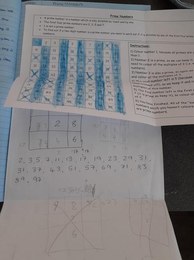 Josh has been identifying prime numbers