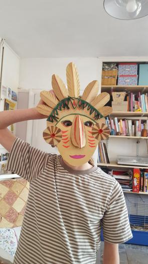 Lily designed her own Maya mask