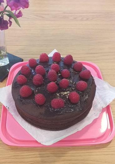 Erin made a delicious chocolate cake