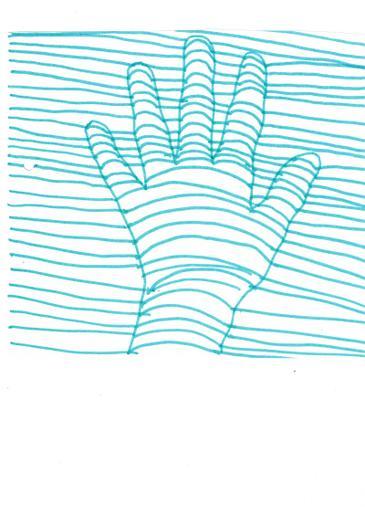 3D art hand drawing