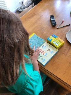 Ruby has been practising her times tables!