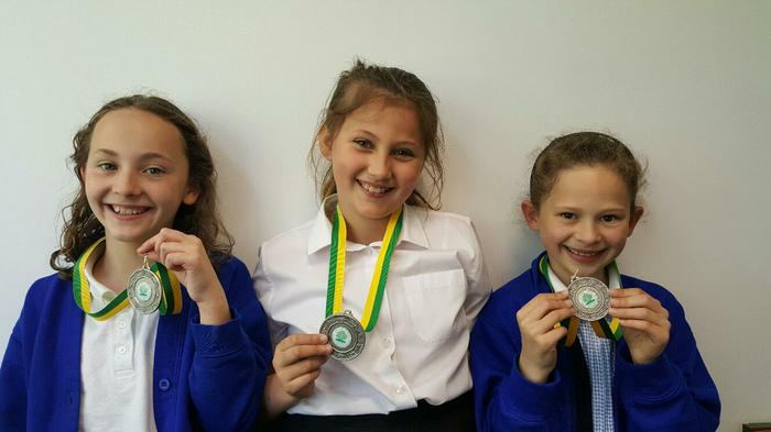 Maddie-Jess-Eliza:2nd in the Plate football final!