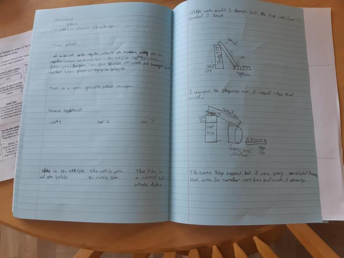 Max's write-up of his science experiment