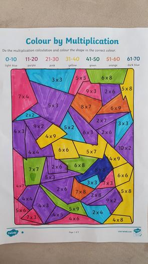 Evie's times table practice