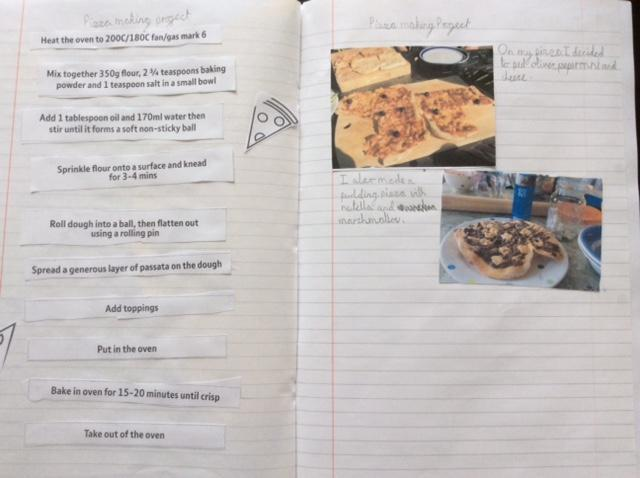 Elisabeth's pizza computing learning