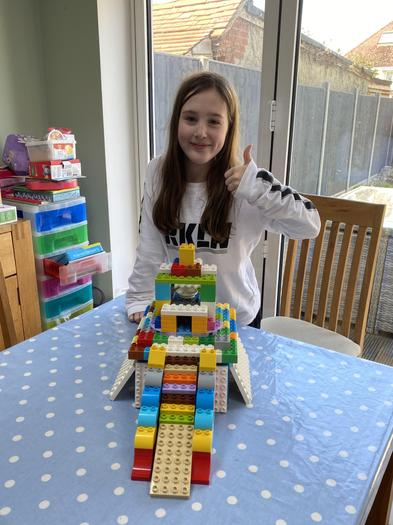 Jemma made a Maya temple out of lego