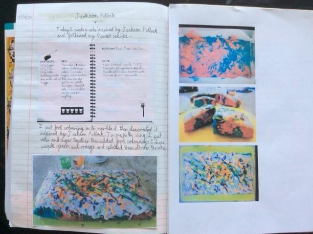 Elisabeth's Jackson Pollock cake!