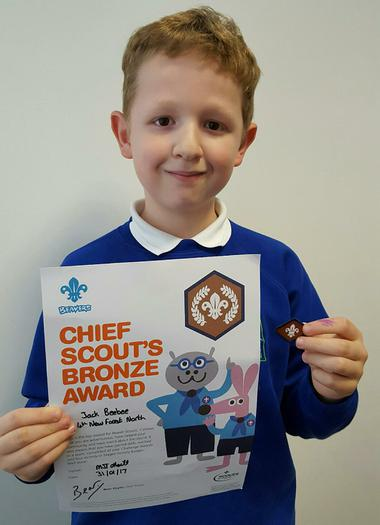 Jack - Chief Scout Bronze Award!